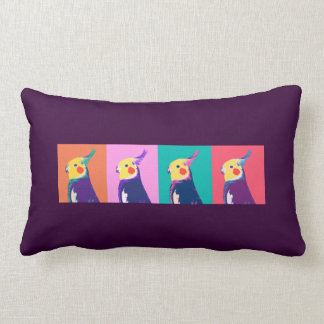 Cockatiel Pop Art Lumbar Pillow