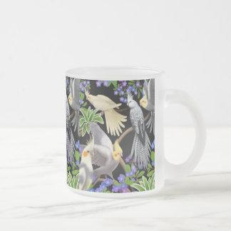 Cockatiels and Forget Me Nots Mug