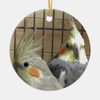 Cockatiels Ceramic Ornament