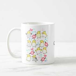 Cockatiels Personalized Name Pet Bird parrot Lover Coffee Mug