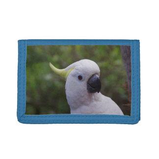 Cockatoo Birdie Blue TriFold Nylon Wallet - Gift