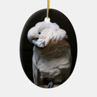 cockatoo ceramic ornament