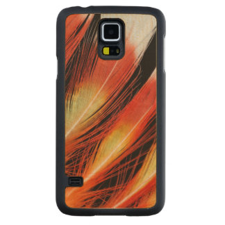Cockatoo Feather Pattern Carved Maple Galaxy S5 Case
