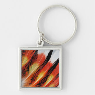 Cockatoo Feather Pattern Keychain