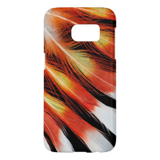 Cockatoo Feather Pattern Samsung Galaxy S7 Case