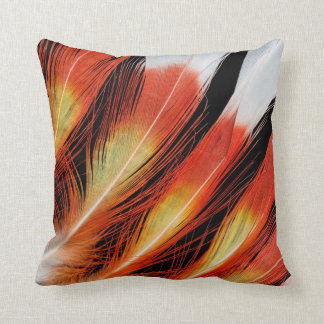 Cockatoo Feather Pattern Throw Pillow