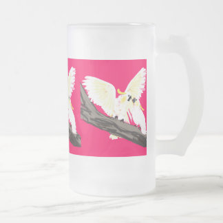 Cockatoo Frosted Glass Frosted Glass Beer Mug