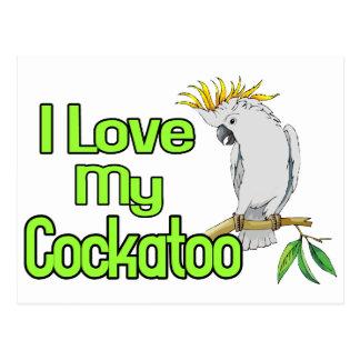 Cockatoo Love Postcard