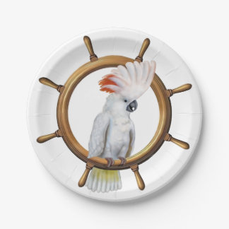 Cockatoo Pirate Parrot Paper Plate