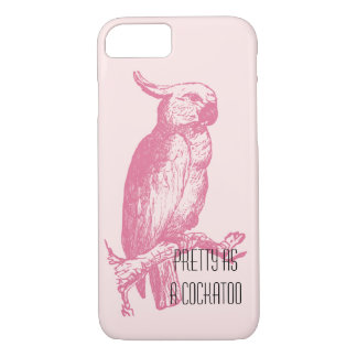 Cockatoo Stylish Pink Girly Funny Bird iPhone 8/7 Case