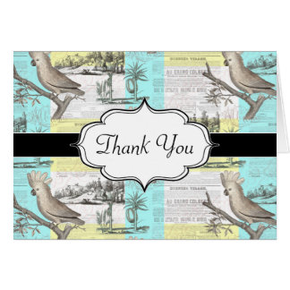 Cockatoos Colonial Dream Greeting Card