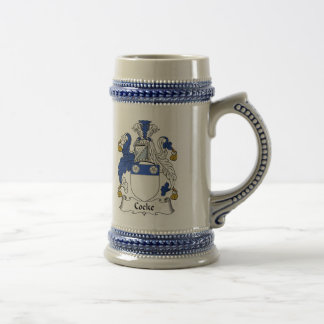 Cocke Coat of Arms Stein - Family Crest