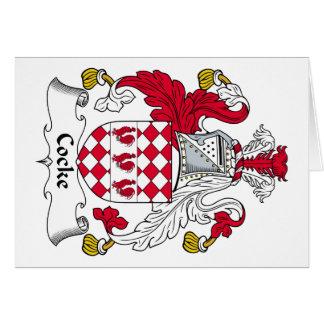 Cocke Family Crest Card