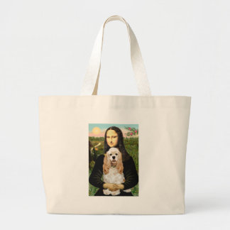 Cocker (Buff) - Mona LIsa Large Tote Bag