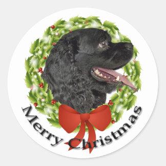 Cocker Christmas Sticker