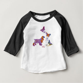 Cocker spaniel and butterflies baby T-Shirt