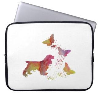 Cocker spaniel and butterflies laptop sleeve