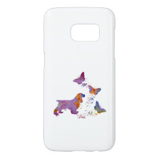 Cocker spaniel and butterflies samsung galaxy s7 case