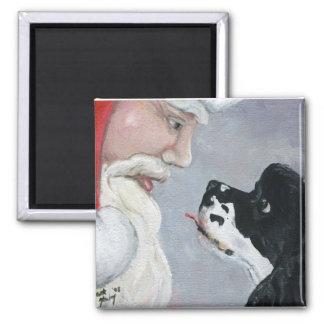 Cocker Spaniel and Santa Dog Art Magnet