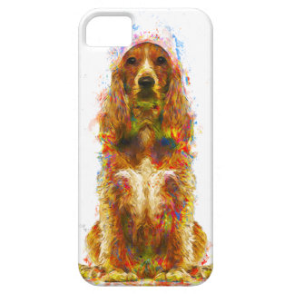 Cocker spaniel and watercolor case for the iPhone 5