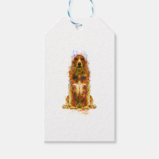 Cocker spaniel and watercolor gift tags