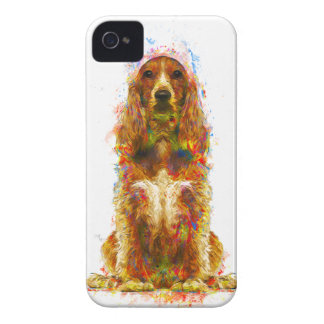 Cocker spaniel and watercolor iPhone 4 Case-Mate case