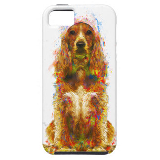 Cocker spaniel and watercolor iPhone 5 case