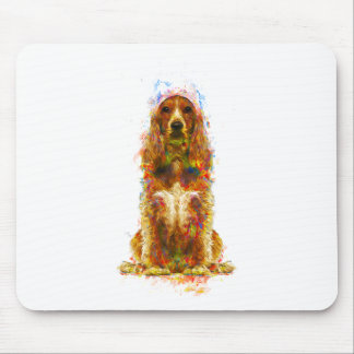 Cocker spaniel and watercolor mouse pad