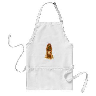 Cocker spaniel and watercolor standard apron