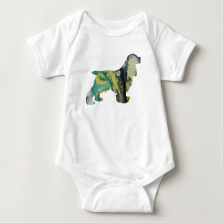 Cocker Spaniel Art Baby Bodysuit