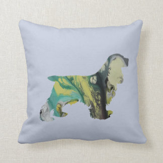 Cocker Spaniel Art Throw Pillow