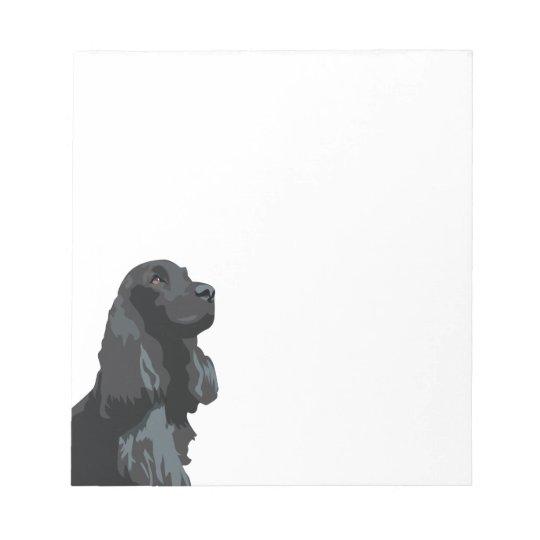 Cocker Spaniel - Black - Basic Breed Templates Notepad