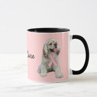 Cocker Spaniel Breast Cancer Mug