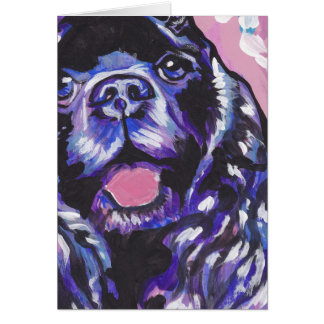 Cocker Spaniel Bright Colorful Pop Dog Art Card