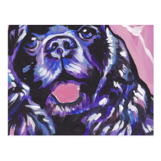 Cocker Spaniel Bright Colorful Pop Dog Art Postcard