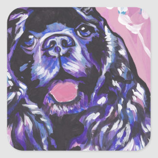 Cocker Spaniel Bright Colorful Pop Dog Art Square Sticker