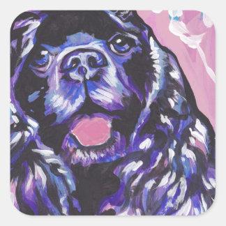 Cocker Spaniel Bright Colorful Pop Dog Art Square Sticker