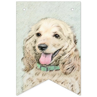 Cocker Spaniel (Buff) Bunting Flags