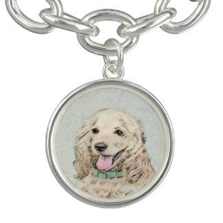 Cocker Spaniel (Buff) Charm Bracelet