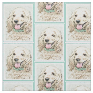 Cocker Spaniel (Buff) Fabric