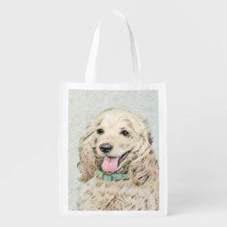 Cocker Spaniel (Buff) Grocery Bags