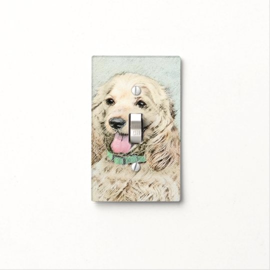 Cocker Spaniel (Buff) Light Switch Cover