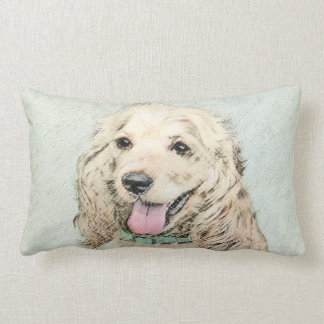Cocker Spaniel (Buff) Lumbar Pillow