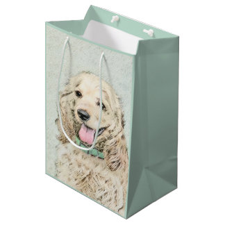 Cocker Spaniel (Buff) Medium Gift Bag