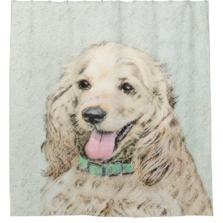 Cocker Spaniel Buff Painting - Original Dog Art