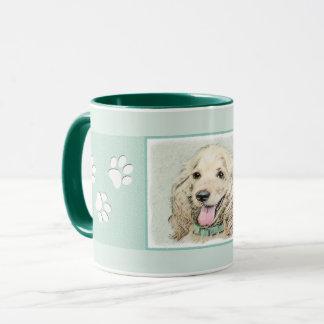 Cocker Spaniel Buff Painting - Original Dog Art Mug