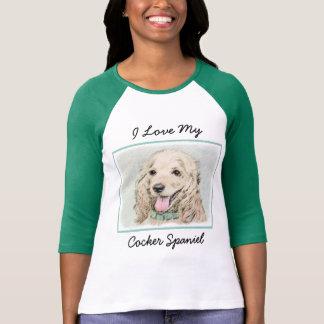 Cocker Spaniel Buff Painting - Original Dog Art T-Shirt