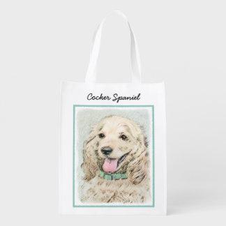 Cocker Spaniel (Buff) Reusable Grocery Bag