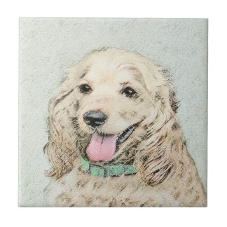 Cocker Spaniel (Buff) Tile