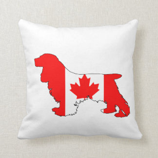 Cocker Spaniel Canada Throw Pillow